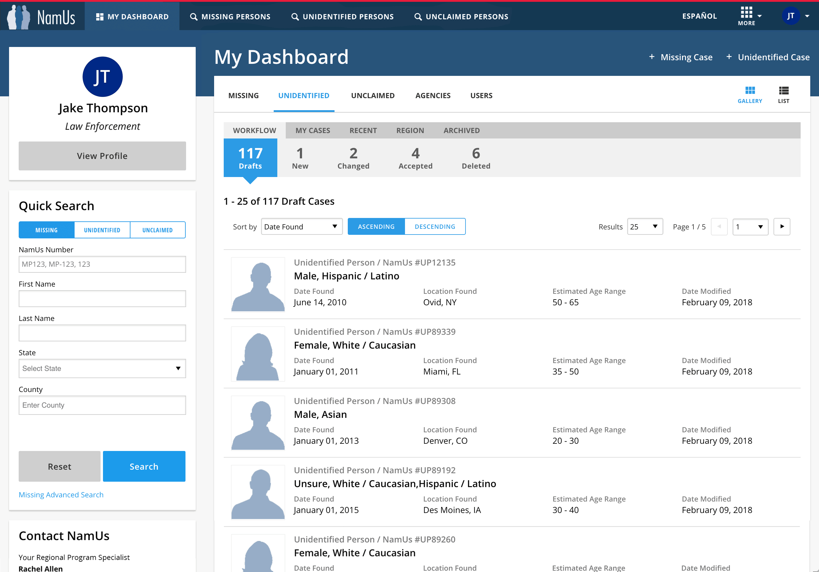 Enhanced User Dashboard